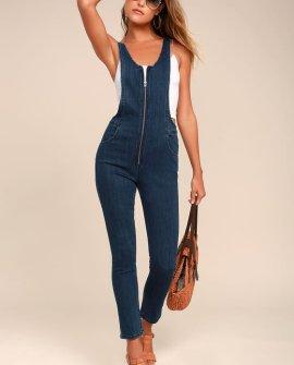 Jax Blue Denim Jumpsuit