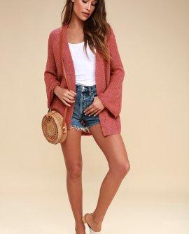 Jessamy Rusty Rose Cardigan Sweater