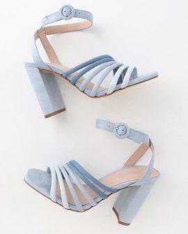 Jonah Blue Multi Suede High Heel Sandal Heels