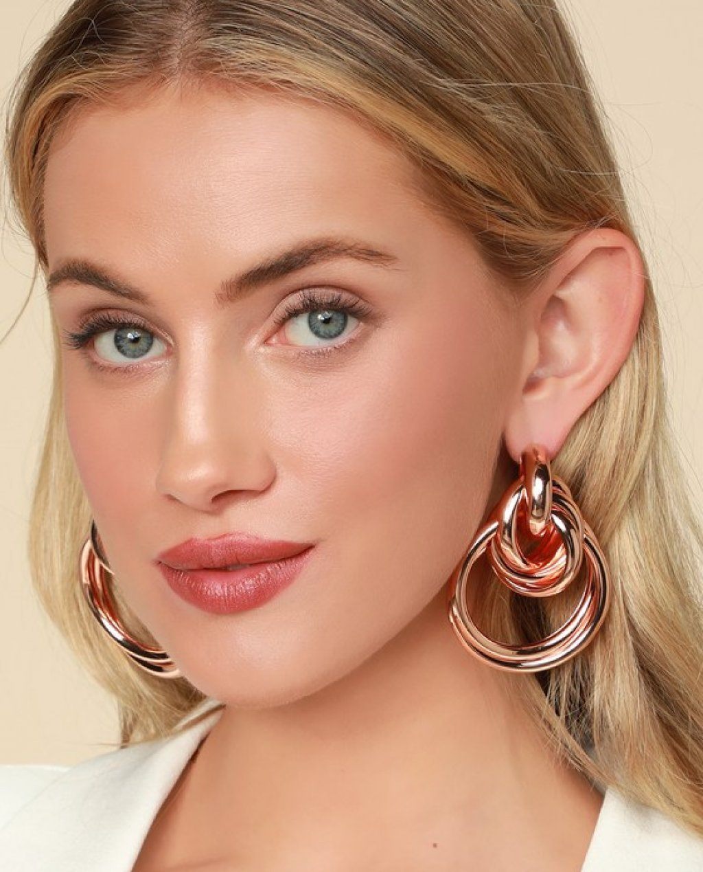 Judith Rose Gold Oversized Knot Earrings