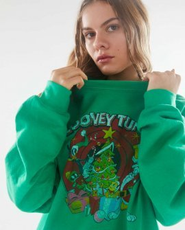 Junk Food Looney Tunes Holiday Tree Sweatshirt