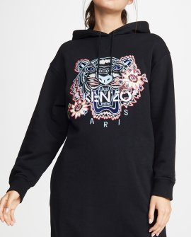 KENZO Passion Flower Tiger Sweatshirt Dress
