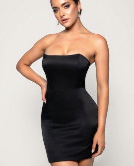 Kalita Strapless Satin Mini Dress