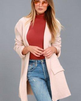 Keep Me Warm Blush Pink Knit Cardigan