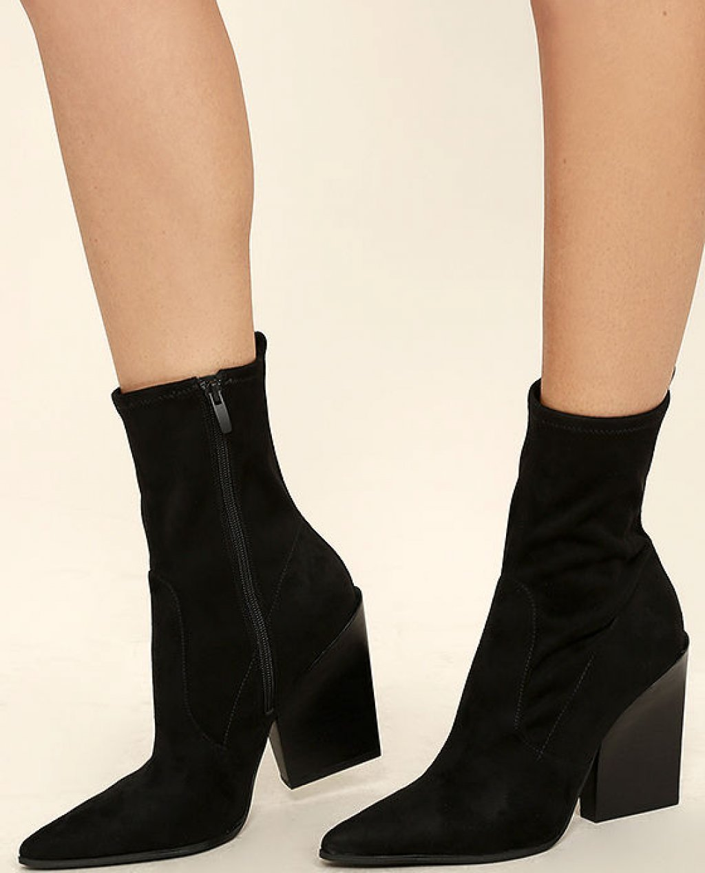 Kendall + Kylie Felicia Black Suede Pointed Mid-Calf Boots