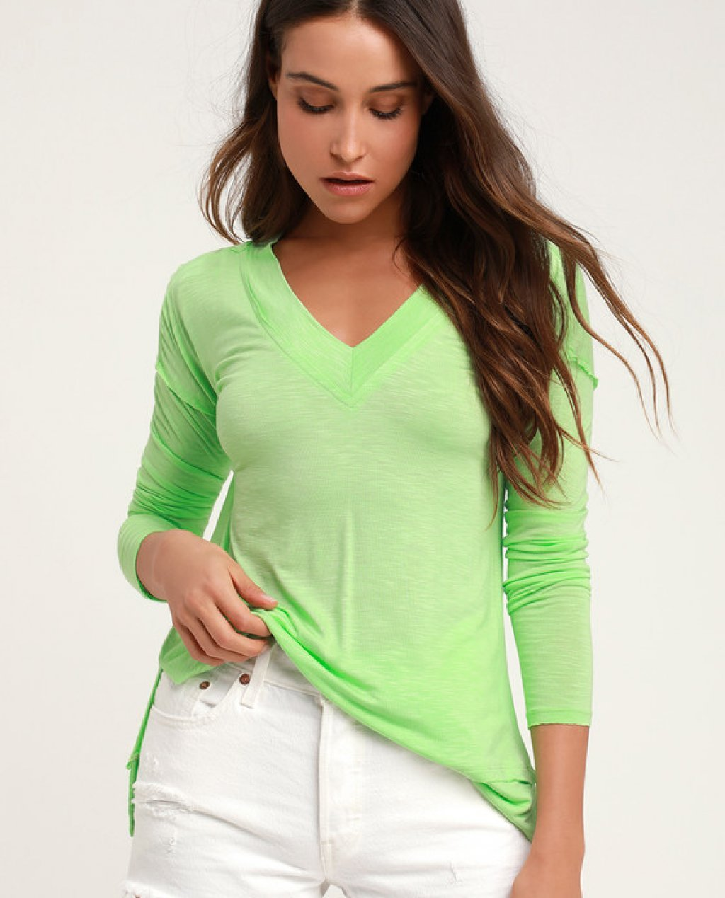 Kenny Bright Green Long Sleeve Top