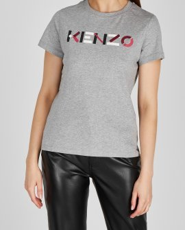 Kenzo Grey logo-print cotton T-shirt