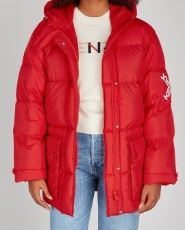 Kenzo Red quilted shell coat