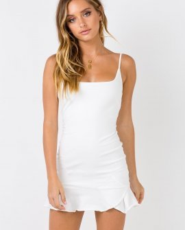 Kiribati White Mini Dress