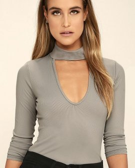 Kiss Me, Miss Me Taupe Long Sleeve Top