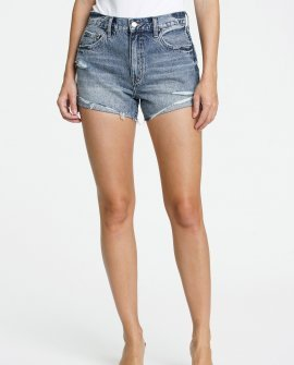 Kylee Relaxed High Rise Cuffed Shorts - Play Date