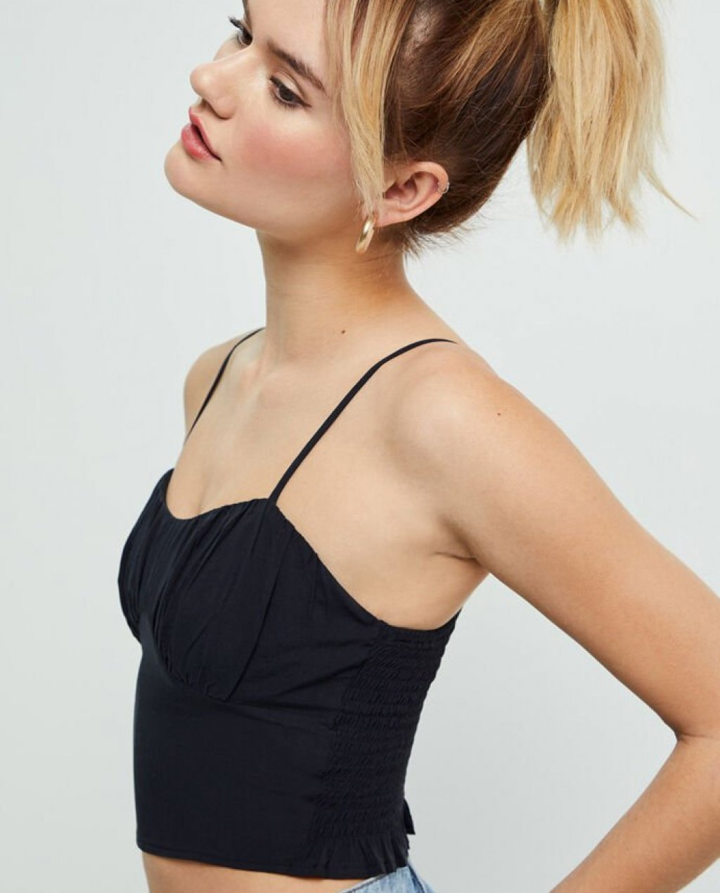 LA Hearts Ruched Bustier Tank Top