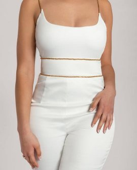 LUELLA Chain Back Bodysuit
