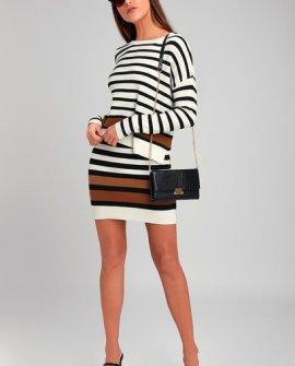 Lali Ivory Striped Sweater