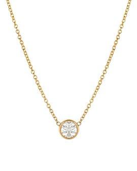 Large Bezel Diamond Necklace