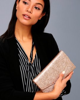 Lavish Love Rose Gold Clutch