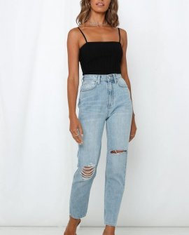 Lee High Mom Jeans Oxy Destruct