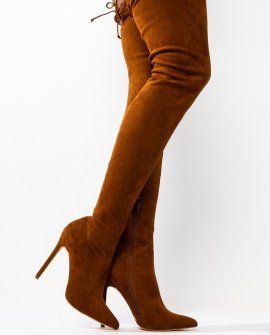 Let Your Body Move Suede Thigh High Boot