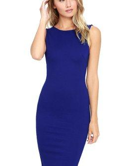 Like a Lady Royal Blue Backless Midi Dress