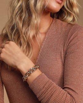 Link Up Gold and Silver Link Bracelet