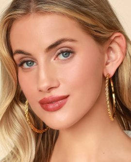 Loleta Gold Oversized Hoop Earrings