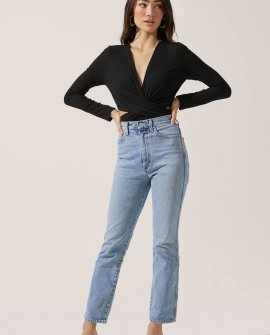 Long Sleeve Side Cutout Bodysuit