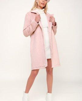 Lookin' Fab Blush Faux Fur Coat