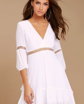 Love Letters White Skater Dress