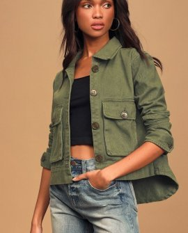 Love of a Lifetime Olive Green Utility Jacket