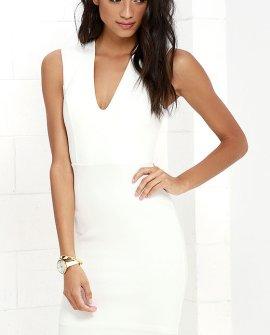 Love the Limelight White Dress