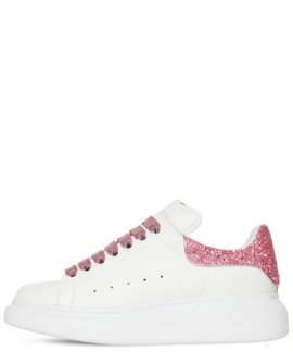 Alexander McQueen Leather & Glitter Sneakers