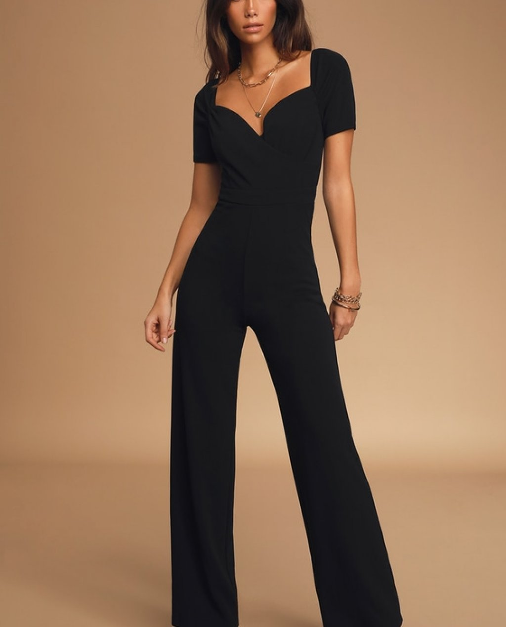 Majored in Success Black Short Sleeve Jumpsuit