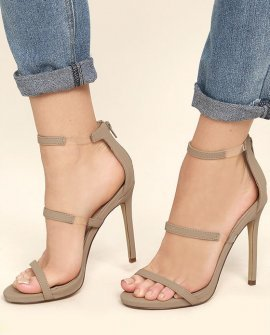 Making Magic Nude Nubuck High Heel Sandals