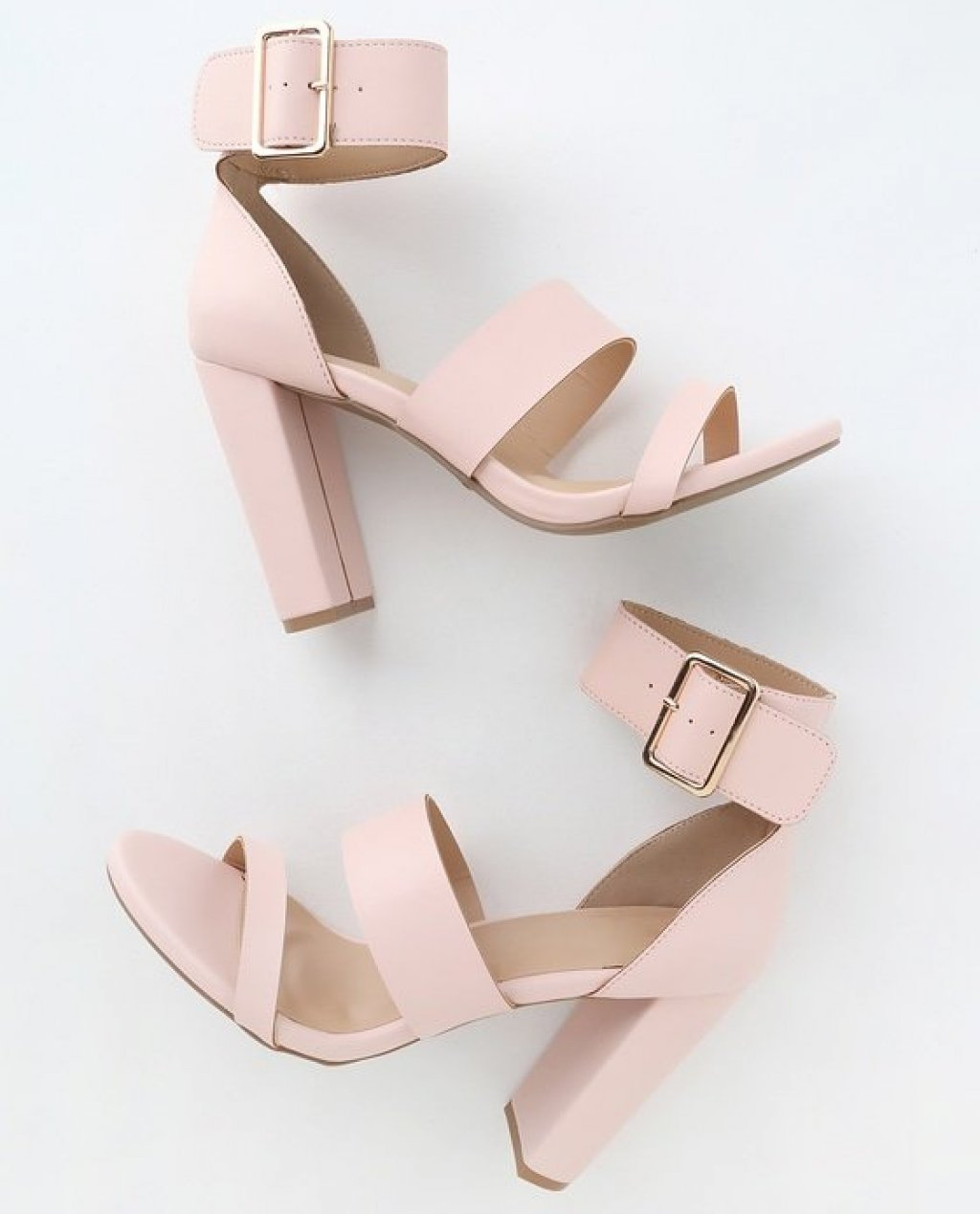 Margaret Light Blush Ankle-Strap Heels