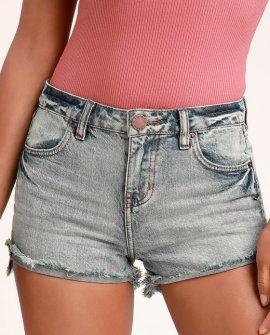Marina Light Wash Denim Cutoff Shorts