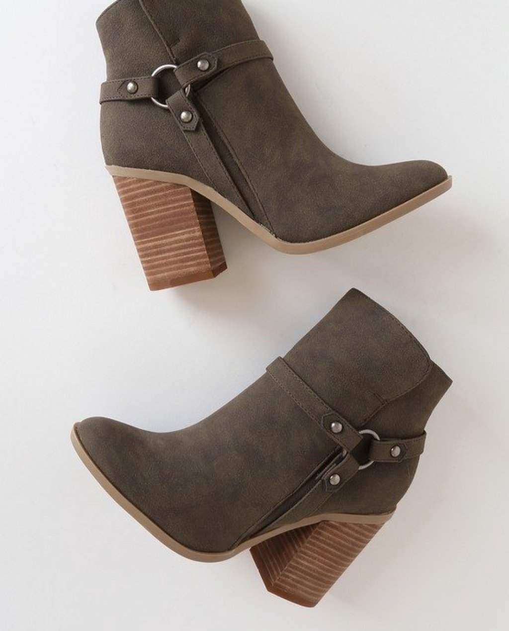 Olive Green Ankle Boots Online Fashion