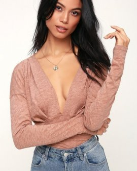 Maven Cocoa Brown Long Sleeve Top