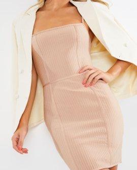 Meggan Grubb Mocha Premium Bandage Mini Dress