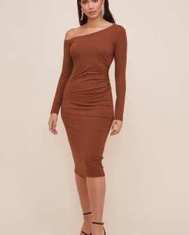 Melina One Shoulder Midi Dress