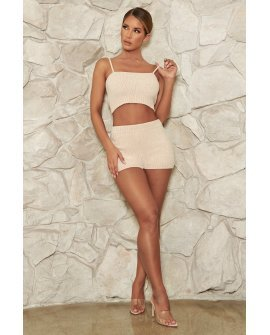 Evelina Chenille Crop Top