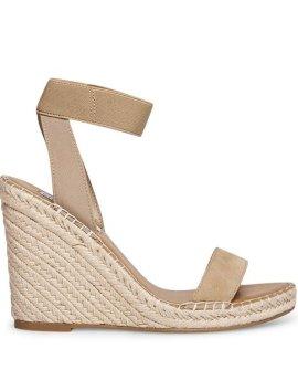 Mikki Suede Camel Sandals