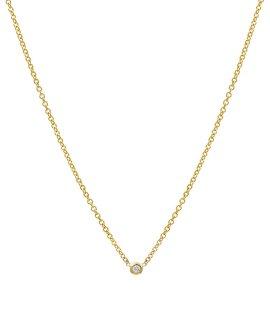 Mini Bezel Diamond Necklace