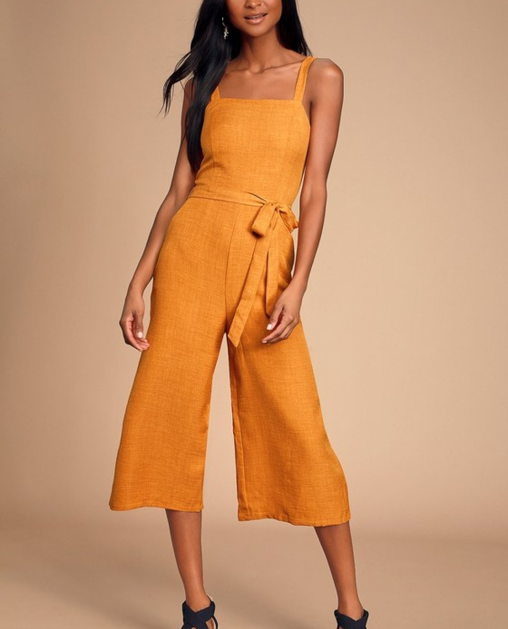 Morning Marigold Mustard Yellow Culotte Jumpsuit