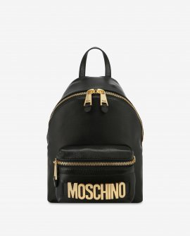 Moschino Leather Backpack With Lettering Logo