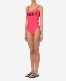 Moschino One Piece Swimsuit With Logo In Red