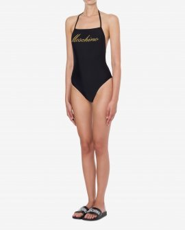 Moschino One Piece Swimsuit Logo Embroidery