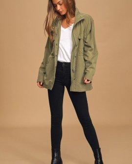 Mountain Olive Green Utility Jacket