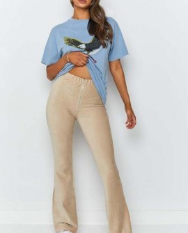 Myah Cord Pants Beige