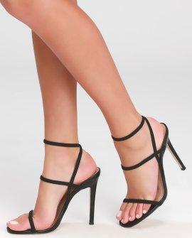 Nectur Black High Heel Sandal Heels
