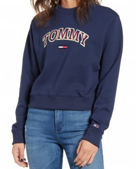 Neon Collegiate Cotton Blend Sweatshirt
